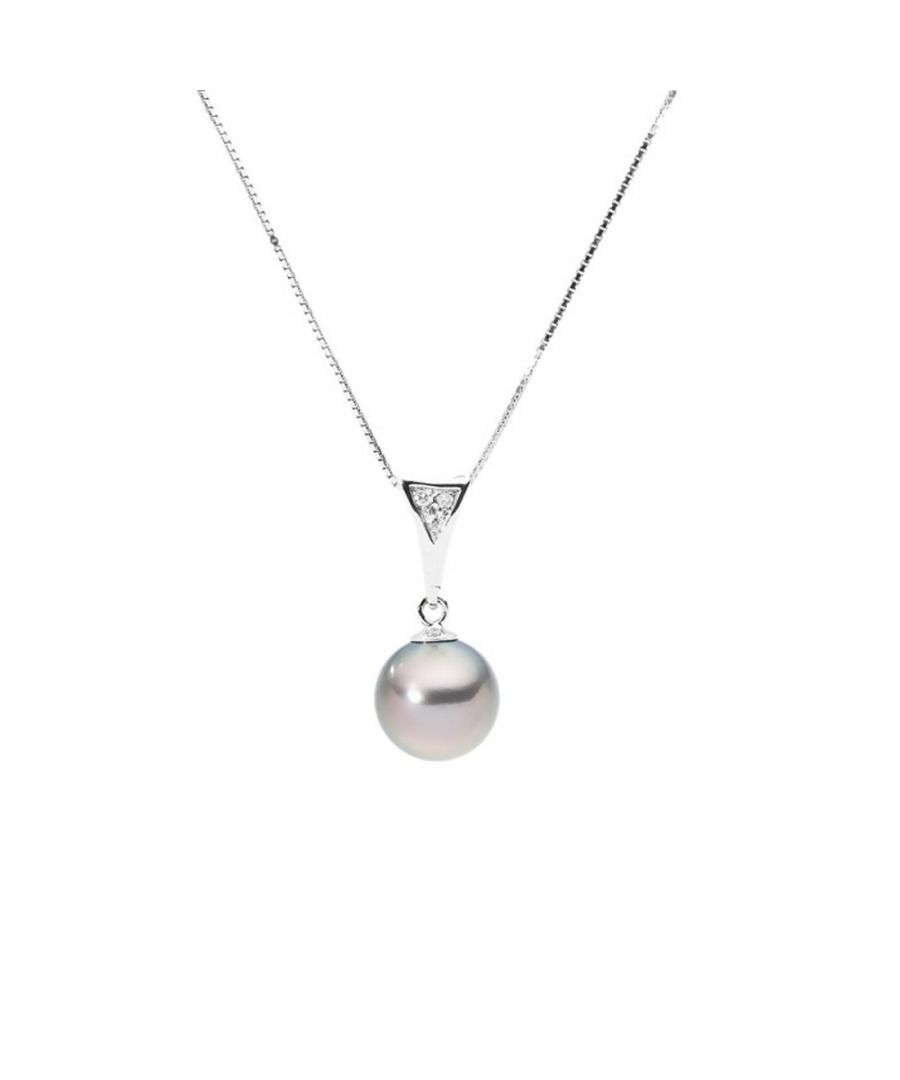 Image for Black Tahitian Pearl and Diamonds Pendant and Yellow Gold 375/1000