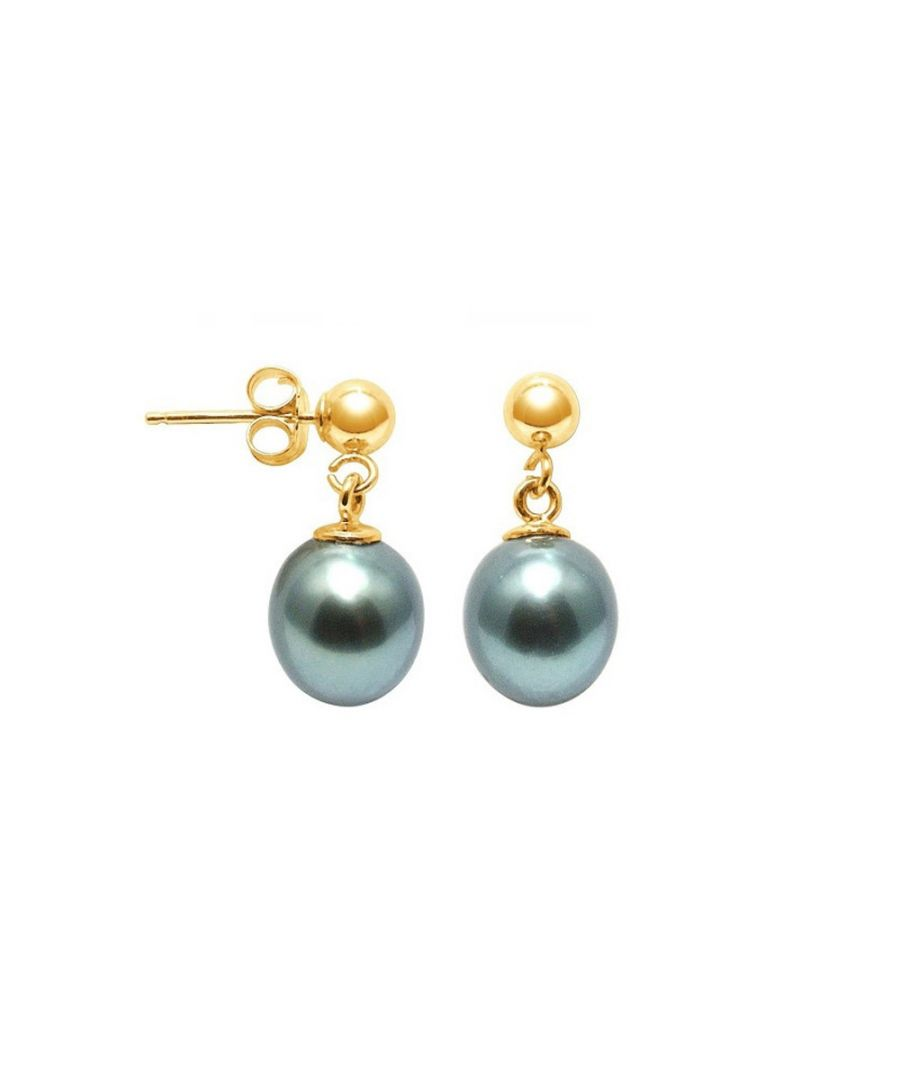 Image for Tahitian Pearl Earrings and yellow gold 750/1000