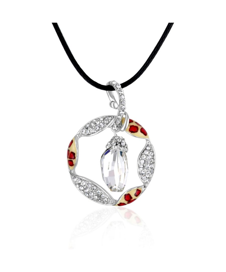 Image for Swarovski Crystal Elements and Rhodium Plated Pendant