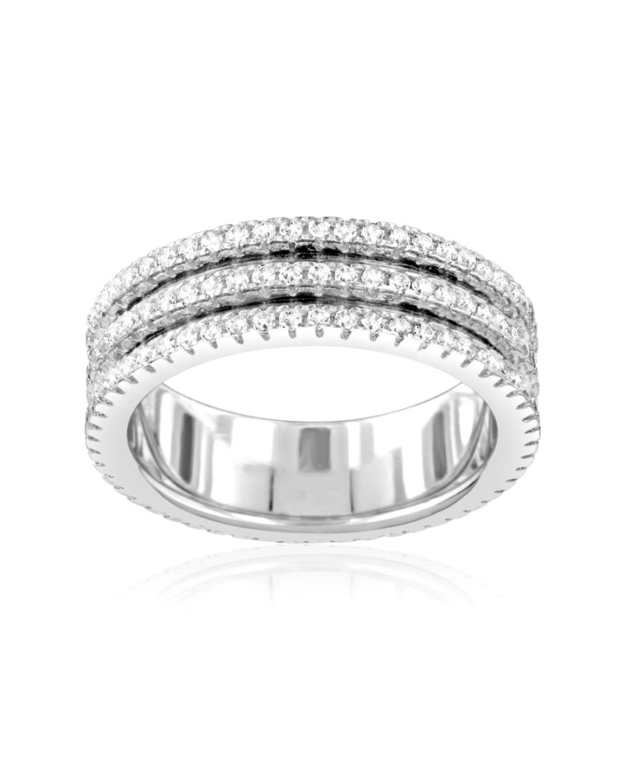 Image for Swarovski - 156 White Swarovski Crystal Zirconia Ring and 925 Silver