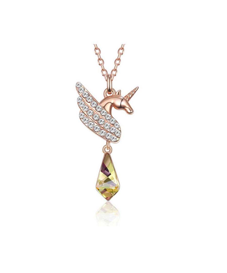 Image for Swarovski - Unicorn Woman's Necklace with White Swarovski Crystal