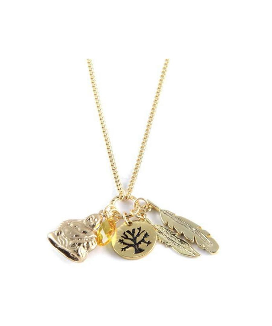 Image for Ettika - Happiness Charm's Choker Necklace Crystal and Yellow Gold