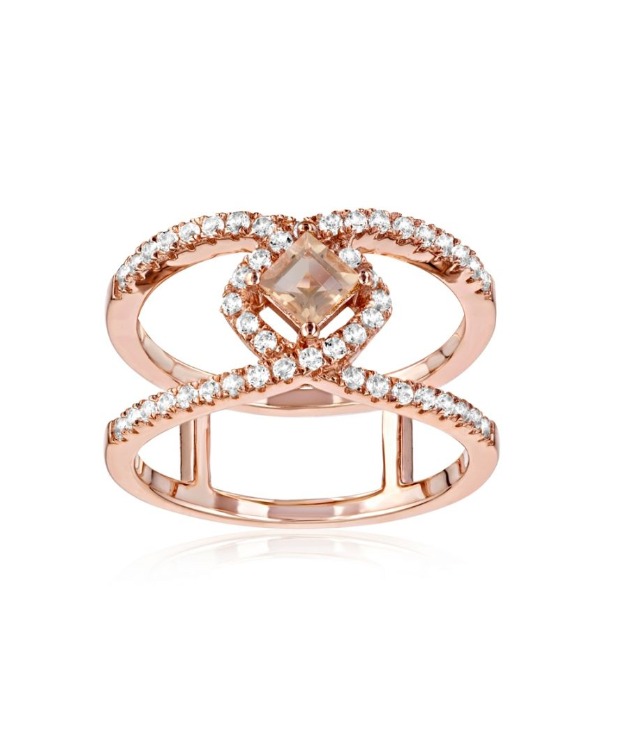 Image for Swarovski - 49 White and Champagne Swarovski Crystal Zirconia and 925 Silver and Rose Gold Plated