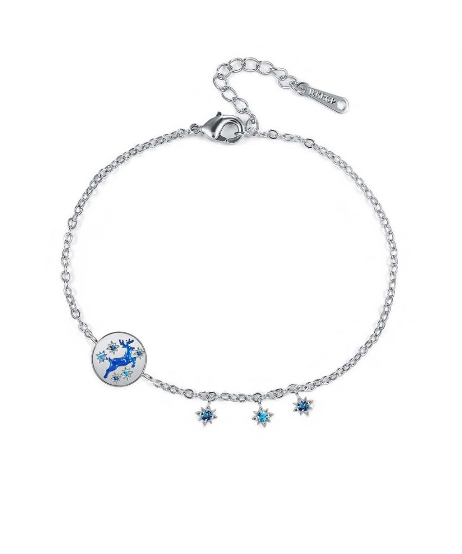 Image for Swarovski - Women's Reindeer Bracelet in Blue Swarovski Crystal