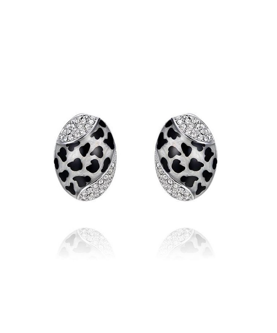 Image for Swarovski - Abalone Earrings and Swarovski Elements Crystal White and Rhodium Plated