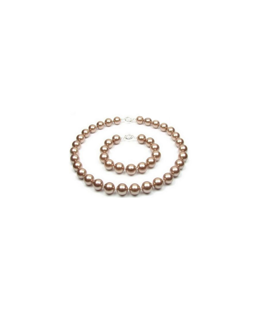 Image for Bronze Pearl Necklace and Bracelet Set and 925 Silver