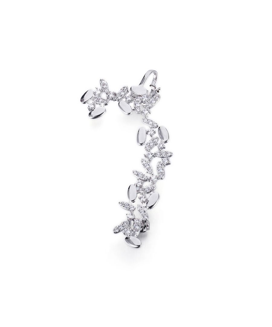 Image for Swarovski - White Swarovski Crystal Elements Ring Earring and Rhodium Plated