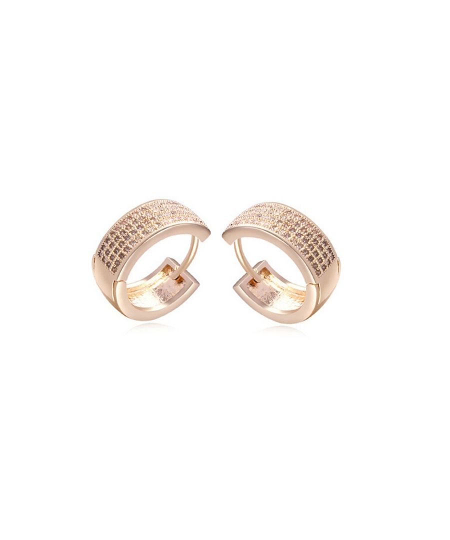 Image for Yellow Gold Plated Earrings and Cubic Zirconia White