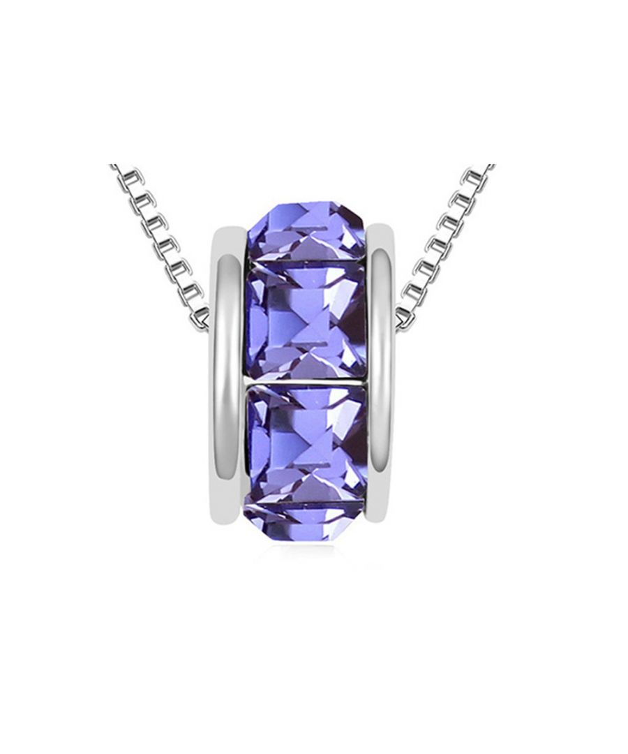 Image for Swarovski - Purple Swarovski Elements Crystal Ring Necklace