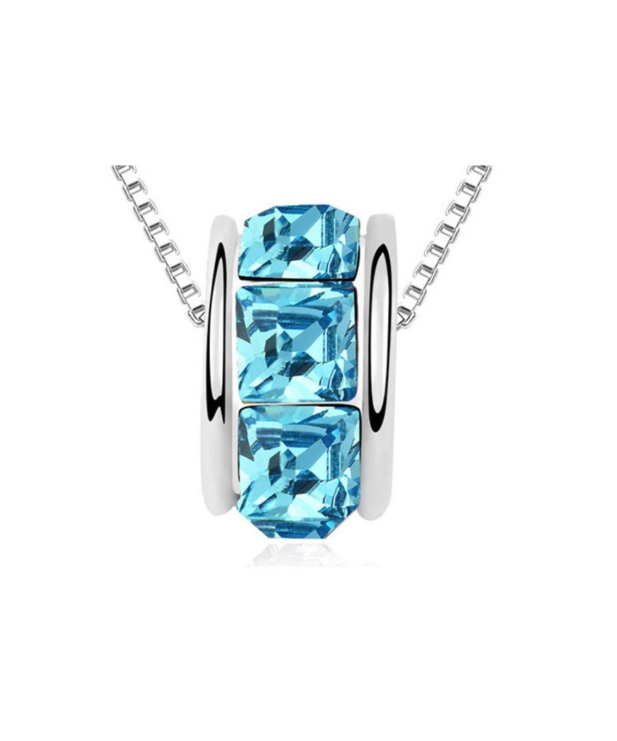 Image for Swarovski - Blue Swarovski Elements Crystal Ring Necklace