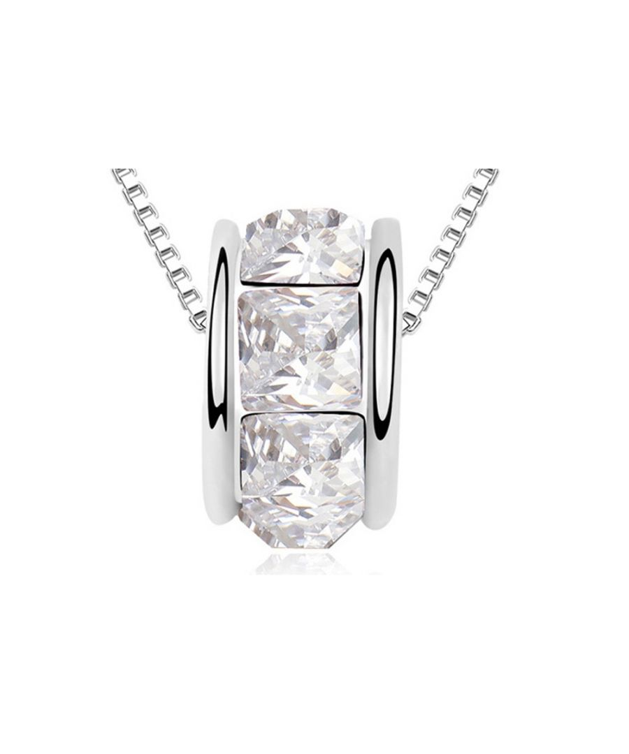 Image for Swarovski - White Swarovski Elements Crystal Ring Necklace and White Gold Plated