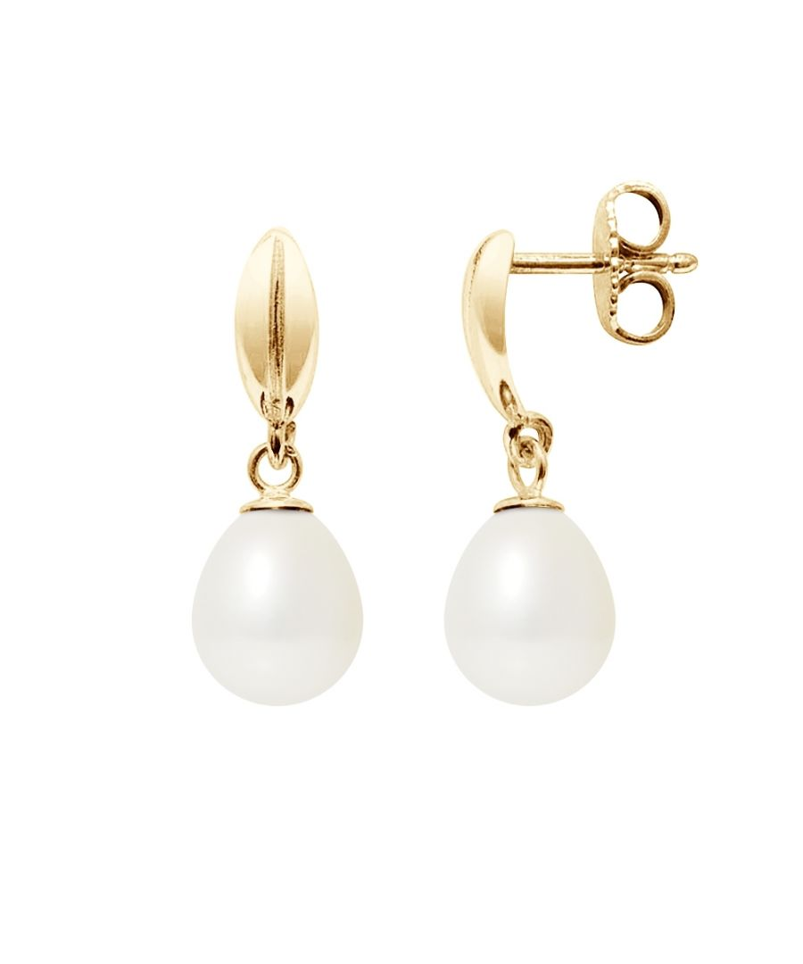 Image for White Freshwater Pearls Earrings and yellow gold 375/1000