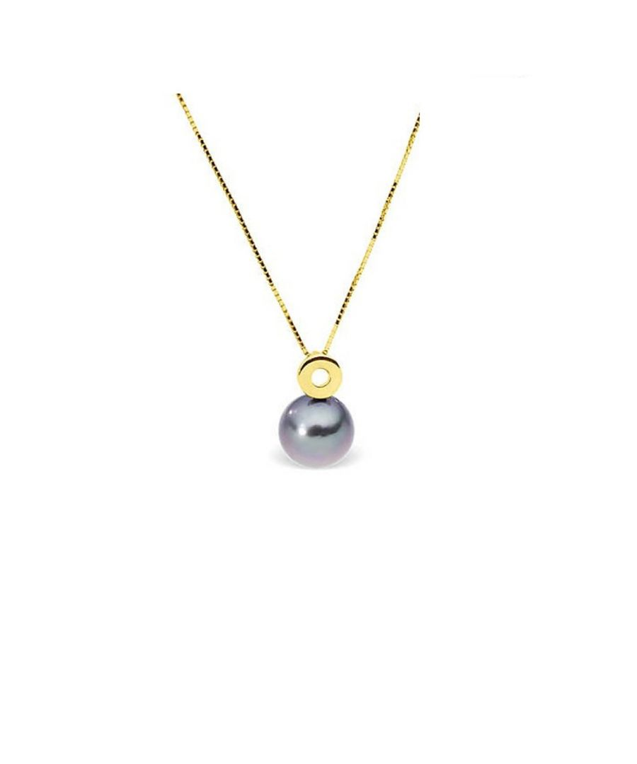 Image for Black Tahitian Pearl and Yellow Gold 375/1000 Necklace