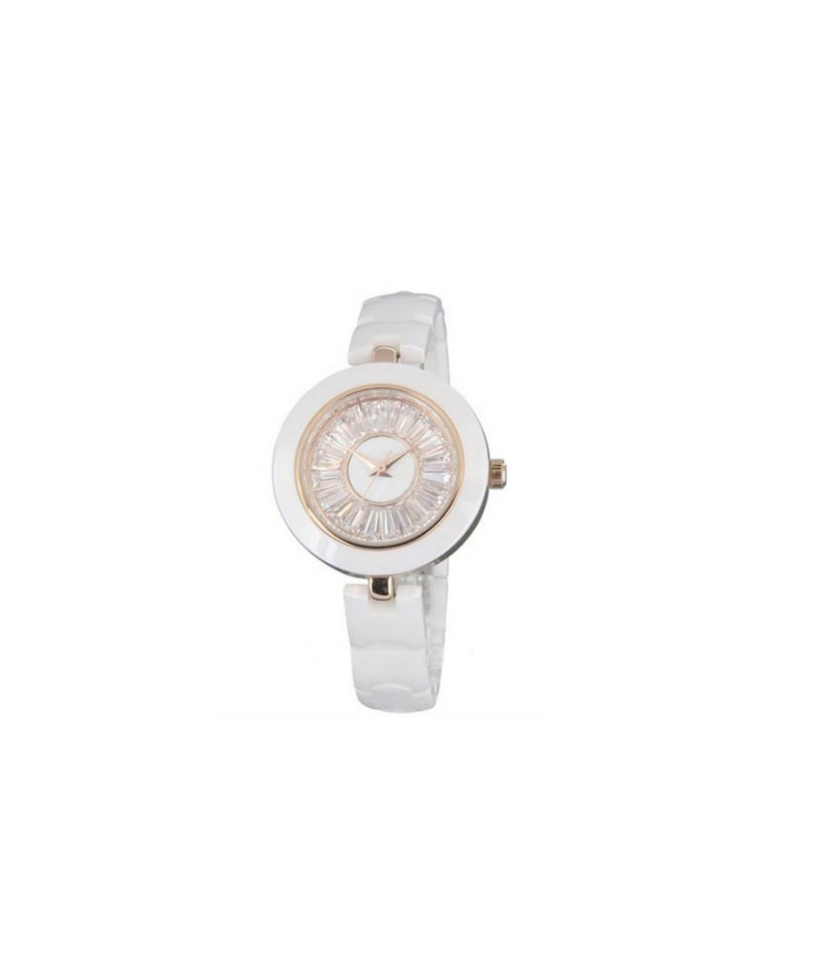 Image for White Ceramic Watch and White Crystal