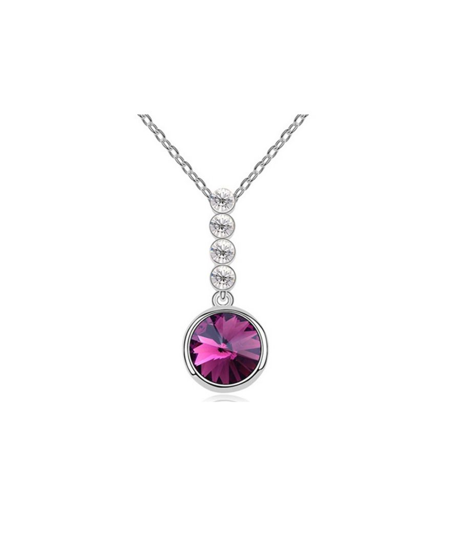 Image for Swarovski - Purple Swarovski Element Crystal Circle Pendant