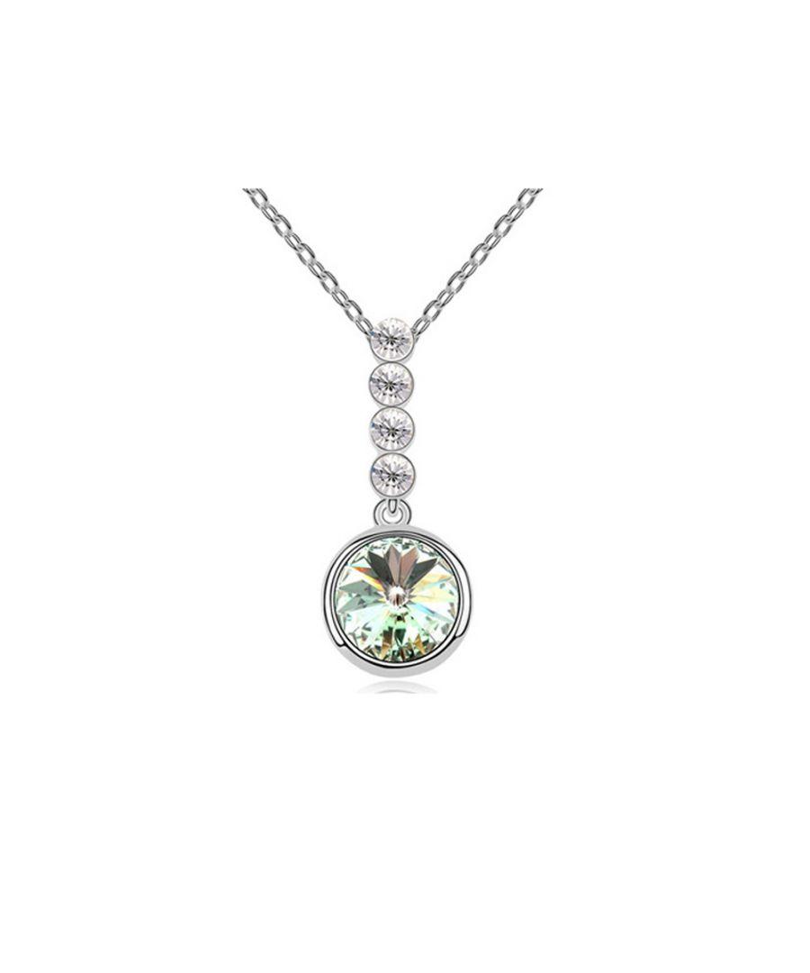 Image for Swarovski - Green Swarovski Element Crystal Circle Pendant