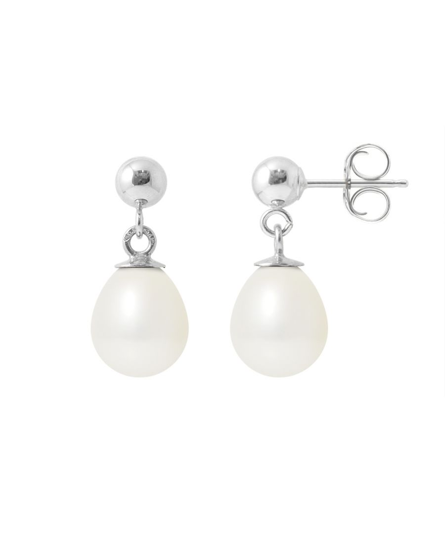 Image for White Freshwater Pearls Dangle Earrings and 925 Silver