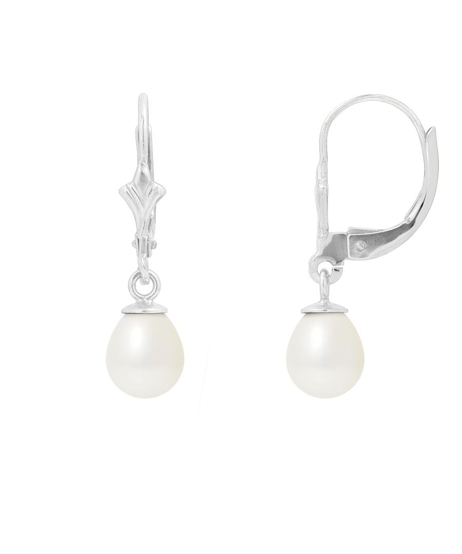 Image for White Freshwater Pearls Dangling Earrings and 925 Silver