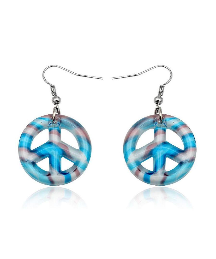 Image for Blue Murano Glass Peace Earrings