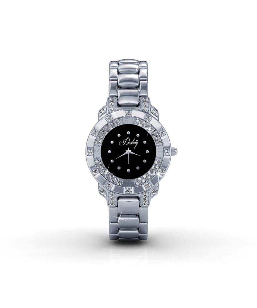 Image for Swarovski - Black Stainless Steel Watch with Swarovski Elements Crystals