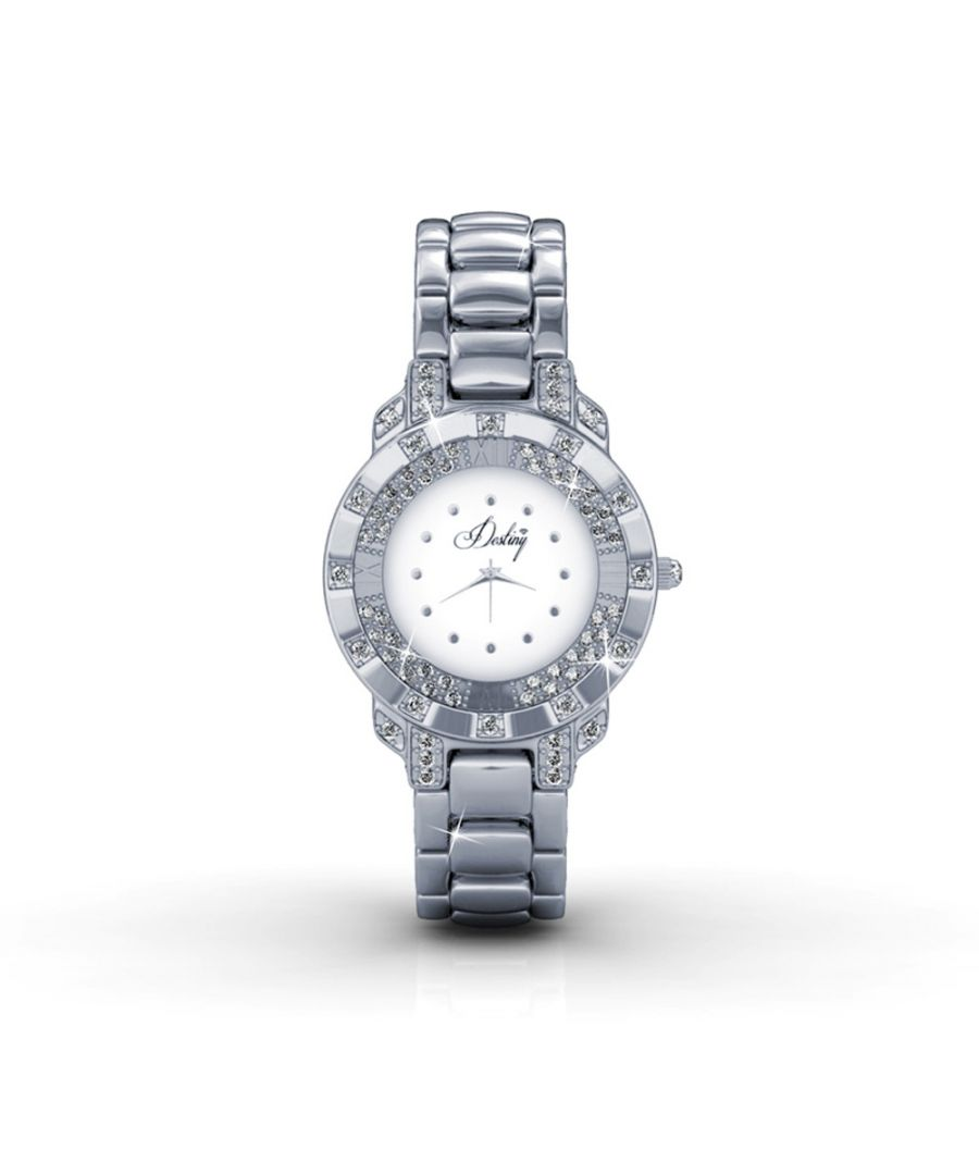 Image for Swarovski - White Stainless Steel Watch with Swarovski Elements Crystals
