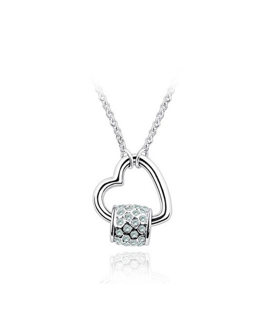Image for Swarovski - Kiss Necklace made with a Blue crystal from Swarovski