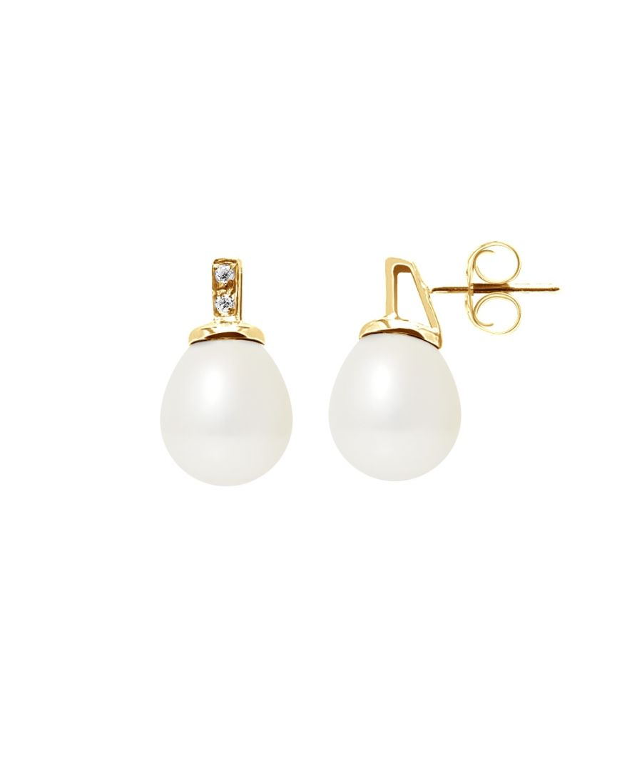 Image for White Freshwater Pearls, Diamonds Earrings and yellow gold 750/1000