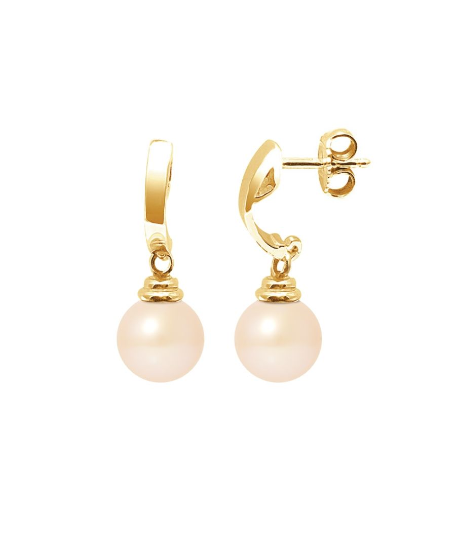 Image for Pink Freshwater Pearls Dangling Earrings and yellow gold 375/1000