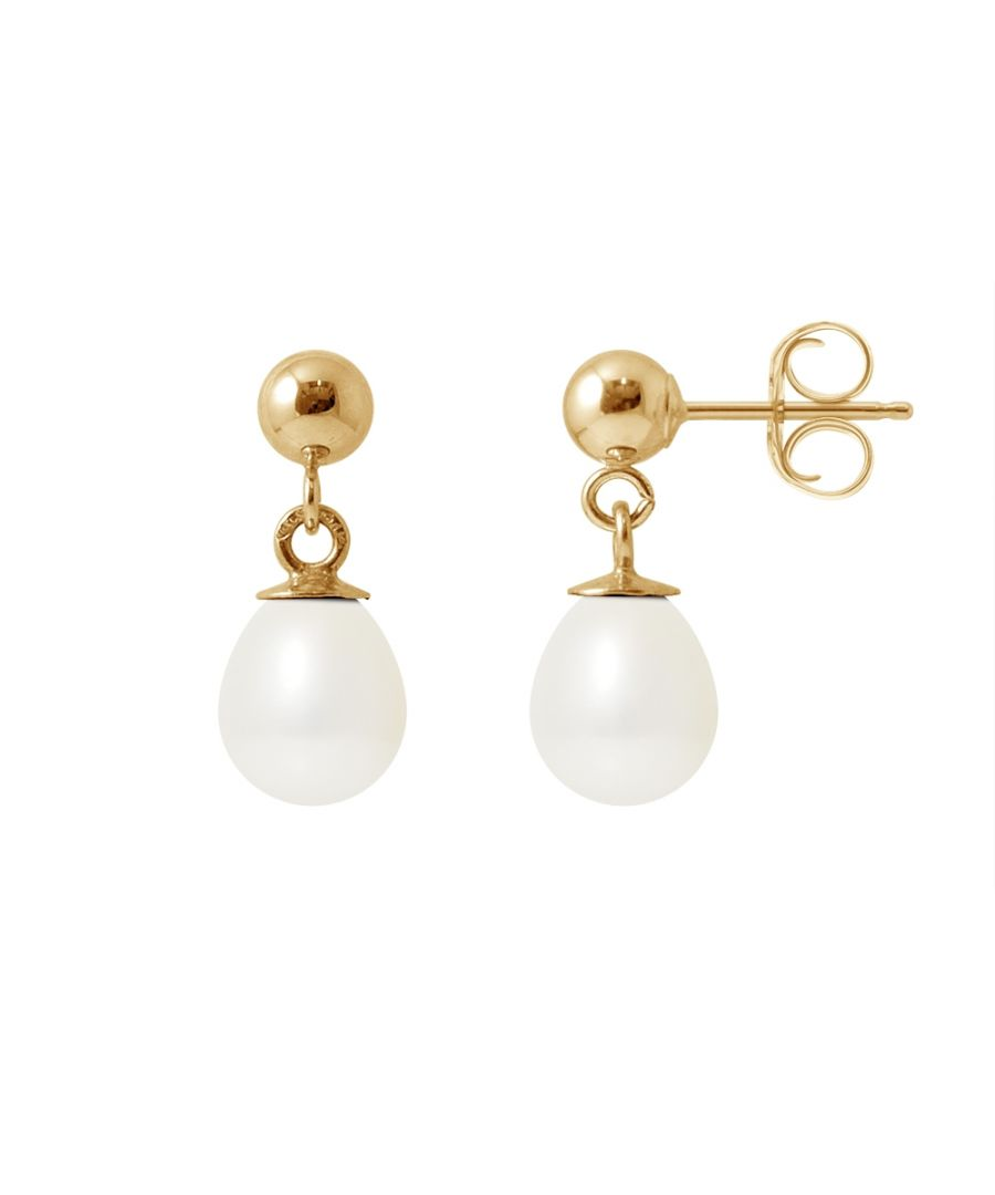 Image for White Freshwater Pearls Earrings and yellow gold 750/1000