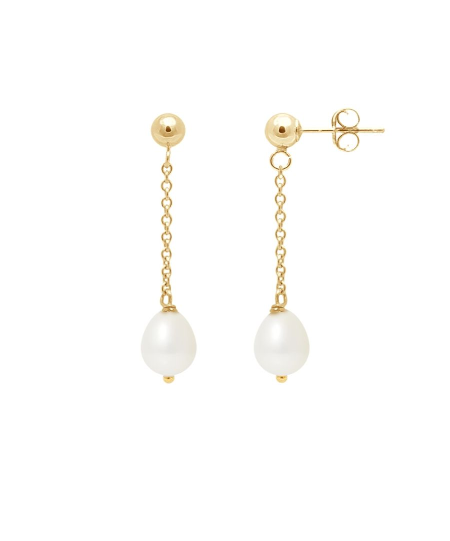 Image for White Freshwater Pearls Dangling Earrings and yellow gold 750/1000