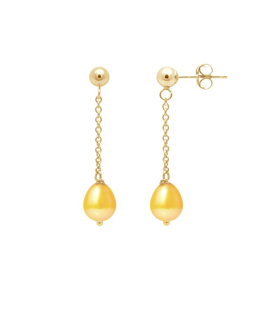 Image for Gold Freshwater Pearls Dangling Earrings and yellow gold 750/1000