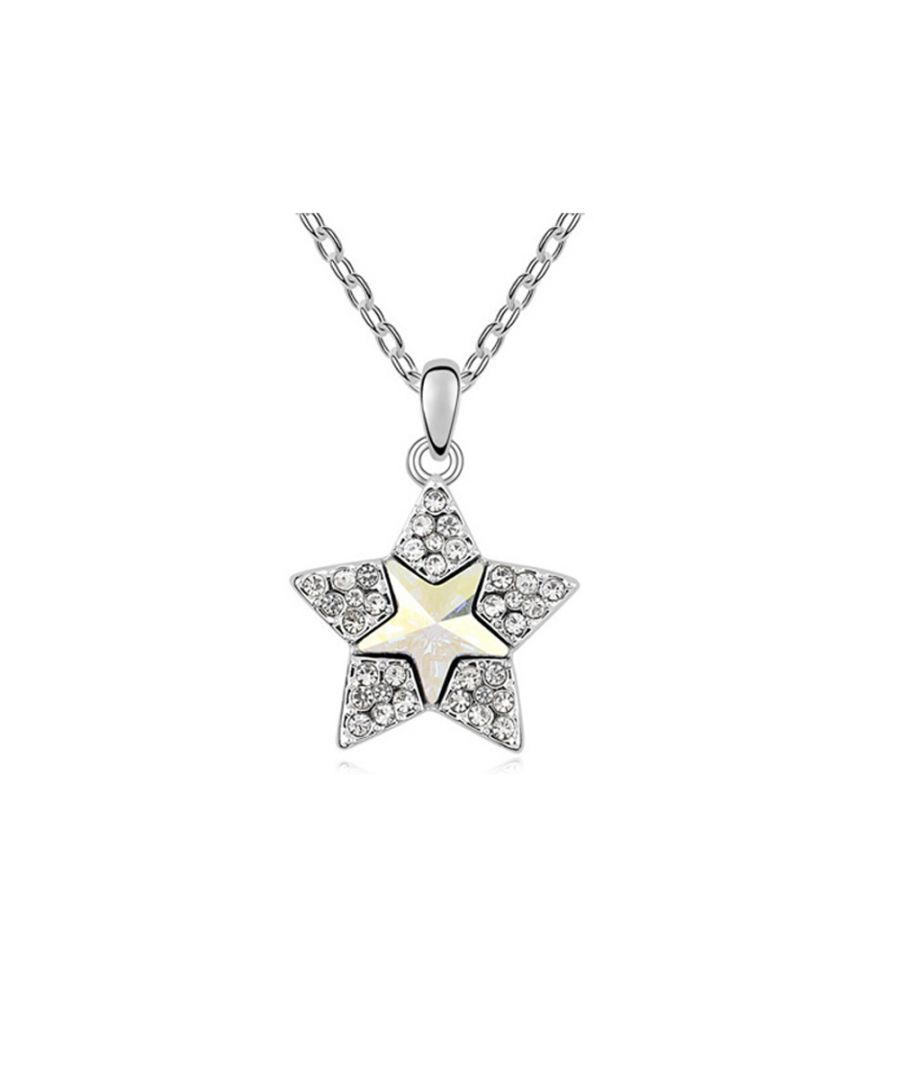 Image for Swarovski - White Swarovski Element Crystal Star Pendant