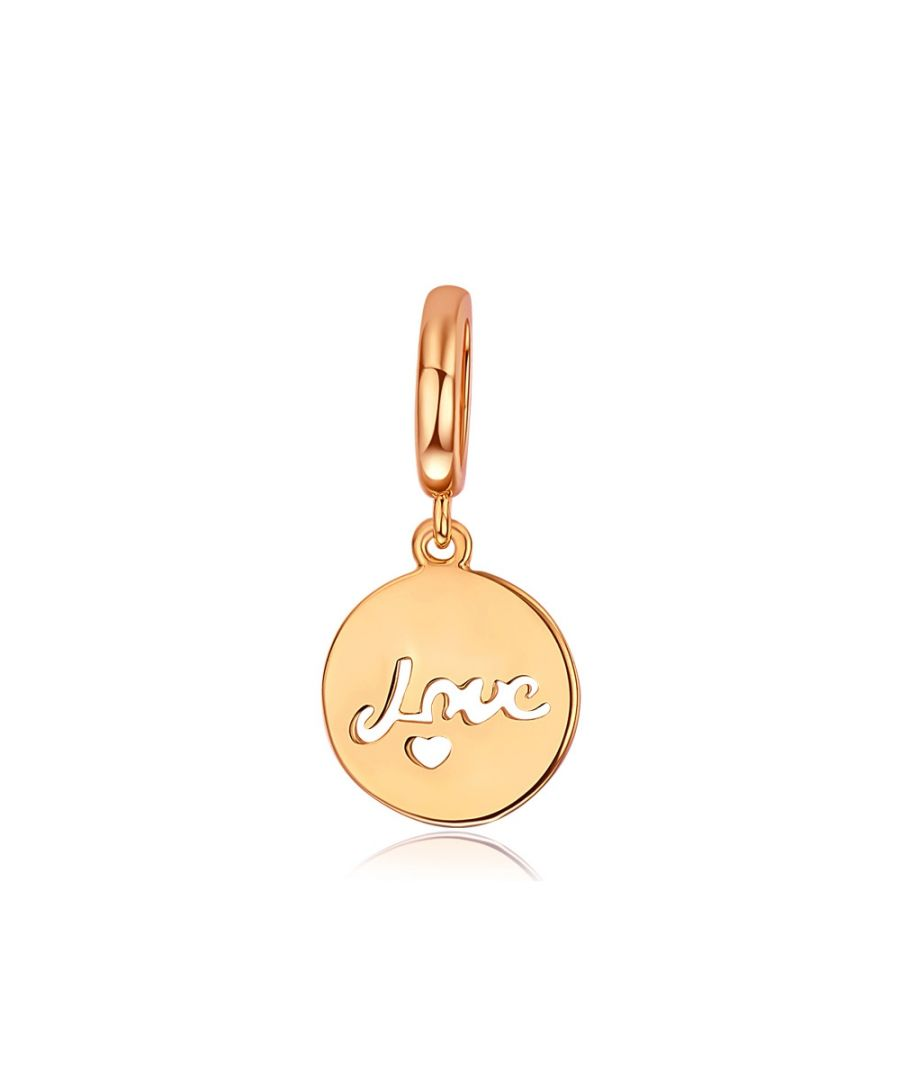 Image for Love Charms Beads Pink Gold Stainless Steel