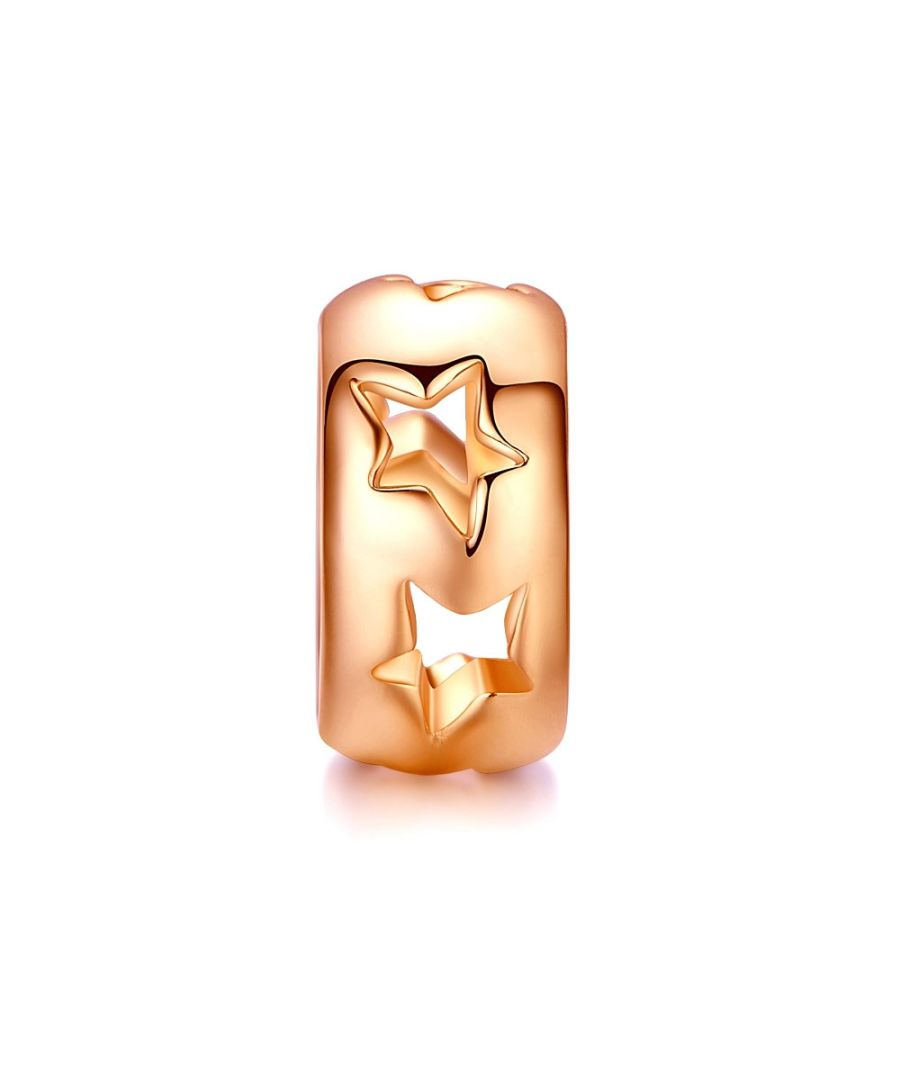 Image for Star Charms Beads Rose Gold Stainless Steel