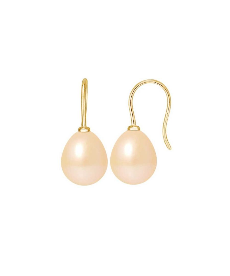 Image for Pink Freshwater Pearls Hooks Earrings and yellow gold 750/1000