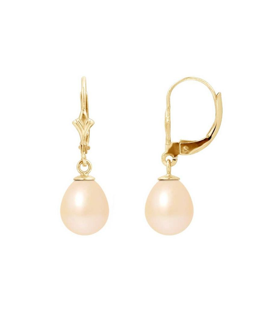 Image for Pink Freshwater Pearls Dangling Earrings and yellow gold 750/1000