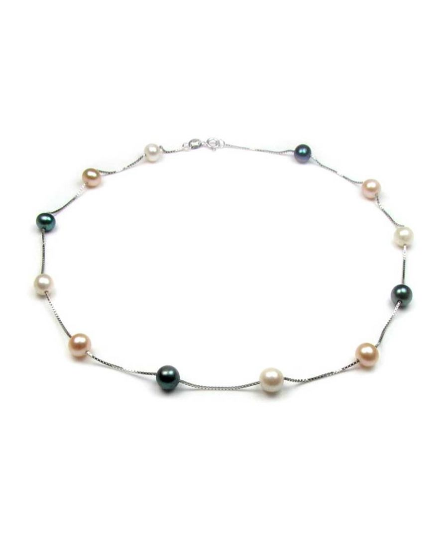 Image for Multicolor Freshwater Pearls Women Necklace and Silver Clasp