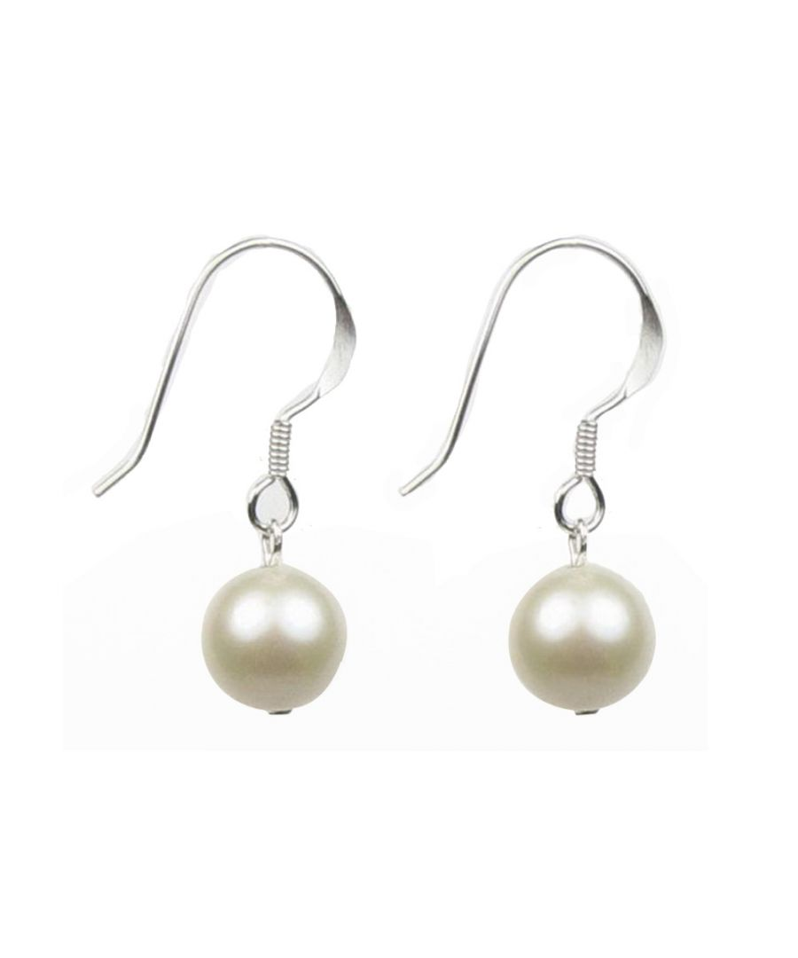 Image for White Freshwater Pearls Hooks Women Earrings and Silver Mounting