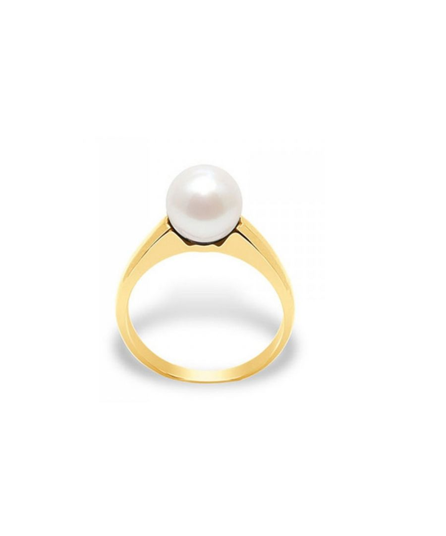 Image for White Freshwater Pearl Ring and Yellow Gold 375/1000