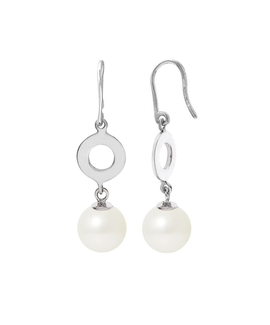 Image for White Freshwater Pearl, Earrings and Sterling Silver 925/1000