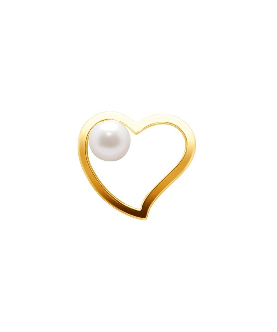 Image for White Freshwater Pearl Heart Pendant and Yellow Gold 750/1000