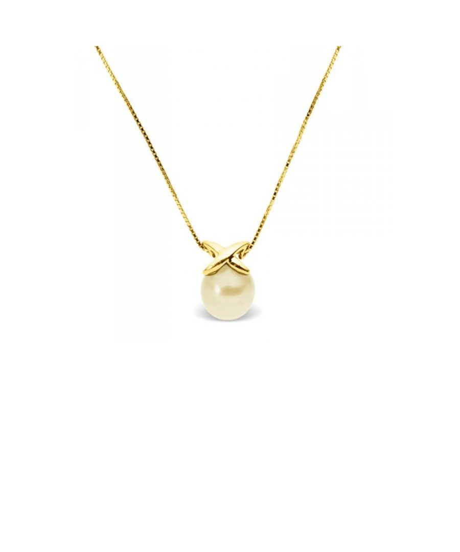 Image for Gold Freshwater Pearl Necklace and Yellow Gold 375/1000