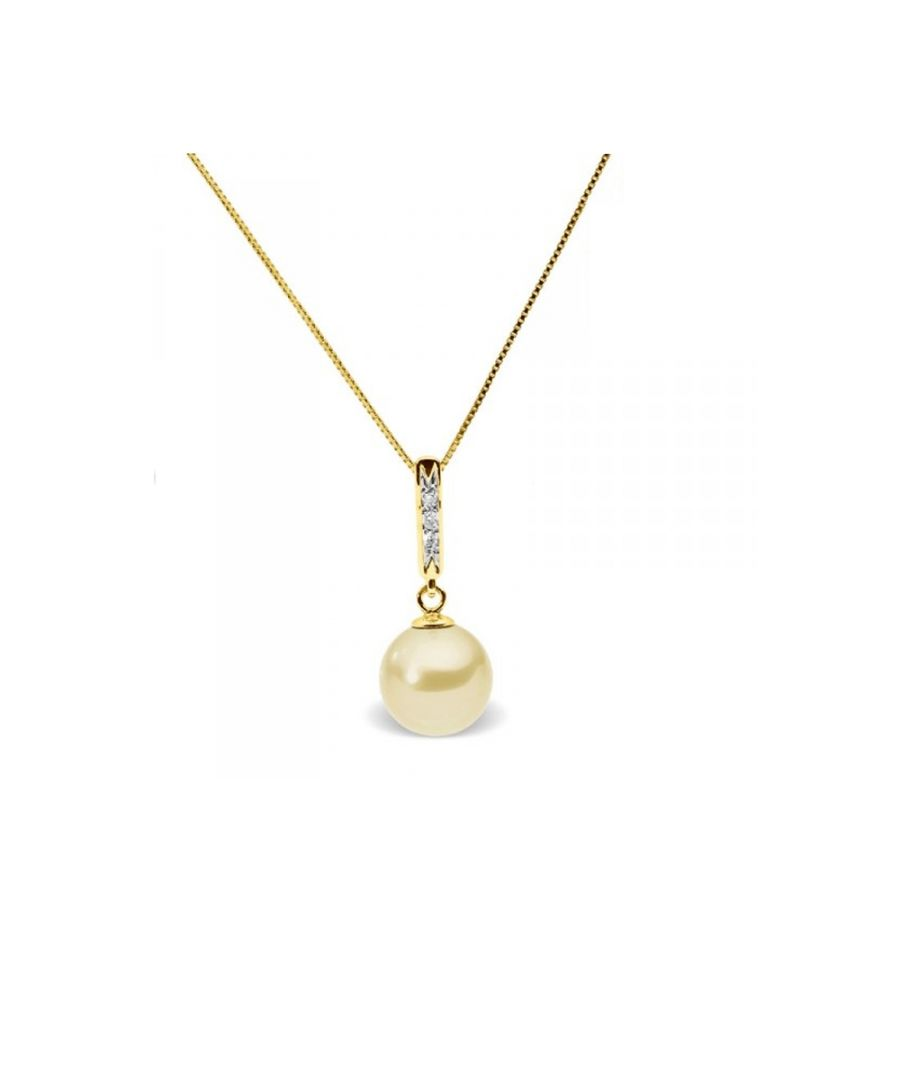 Image for Gold Freshwater Pearl and Diamonds Pendant and Yellow Gold 375/1000