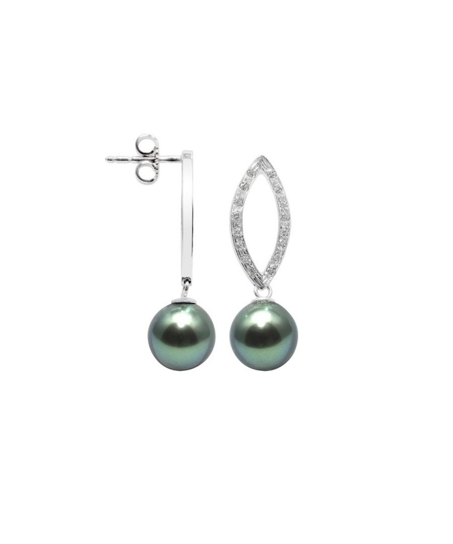 Image for Tahitian Pearl, Diamonds Earrings and White gold 750/1000