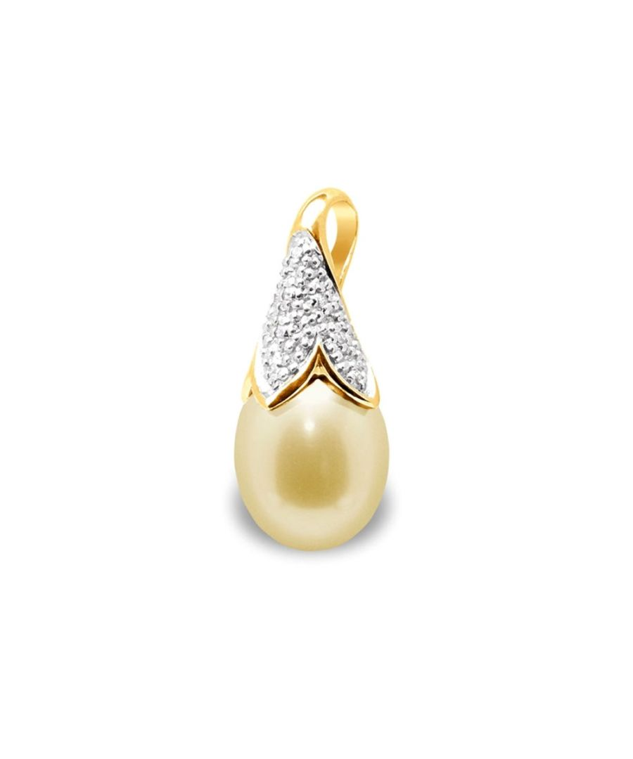 Image for Gold Freshwater Pearl, Diamonds Pendant and Yellow Gold 750/1000
