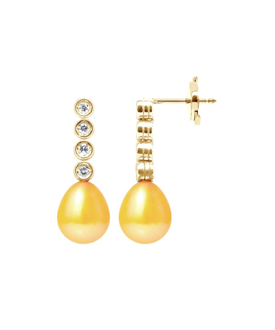 Image for Gold Freshwater Pearls, Diamonds Earrings and yellow gold 750/1000