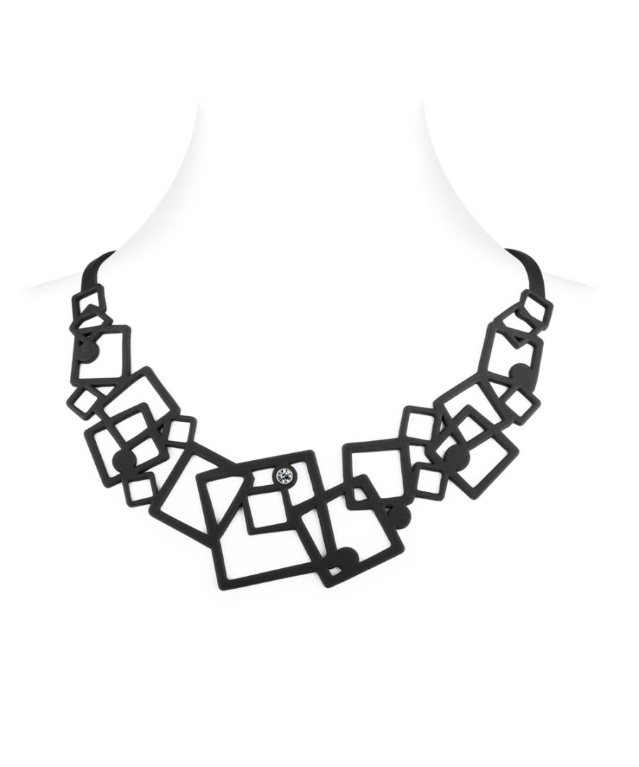 Image for Black Silicone Gum Geometric Necklace Effect Tatto