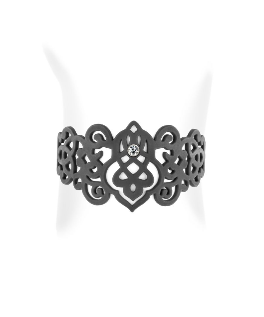 Image for Black Silicone Gum Arabesque Bracelet Effect Tatto