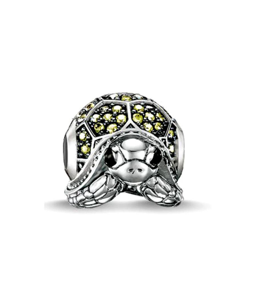 Image for Green Crystal Turtle Charms Bead