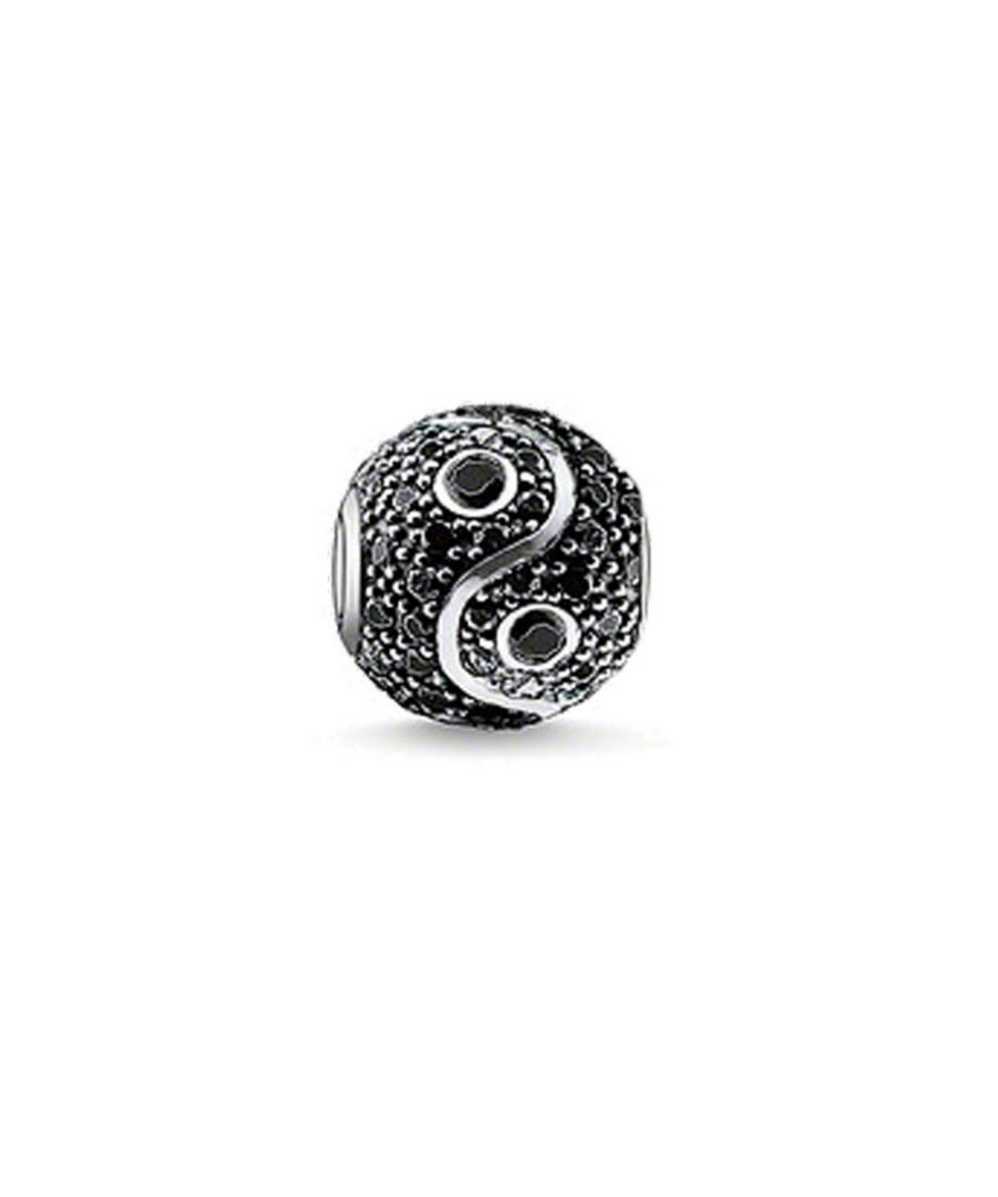Image for Black Crystal Yin Yang Beads